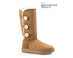 UGG BAILEY BUTTON TRIPLET II CHESTNUT