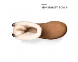 UGG MINI BAILEY BOW II CHESTNUT