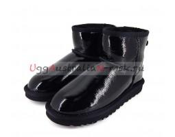 UGG CLASSIC MINI PATENT II BLACK LACQUER