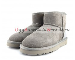 UGG CLASSIC MINI II METALLIC MISTY ASH