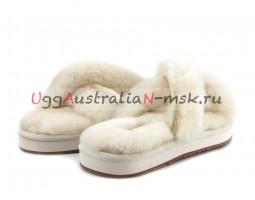 UGG SLIPPER ABELA WHITE