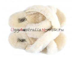 UGG SLIPPER ABELA WHITE