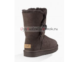UGG BAILEY BUTTON SHORT II CHOCOLATE