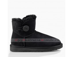 UGG BAILEY BUTTON MINI II BLACK