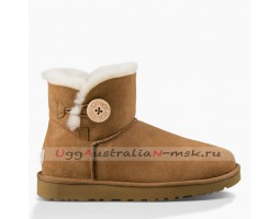 UGG BAILEY BUTTON MINI II CHESTNUT