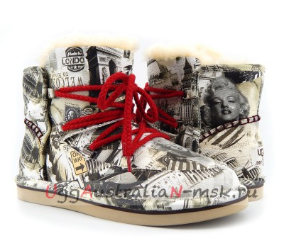 UGG & JIMMY CHOO TRAVEL FUR GREY