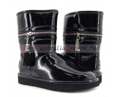 UGG & JIMMY CHOO ZIPPER BLACK