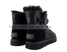 UGG BAILEY BUTTON MINI BOMBER NEW BLACK