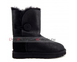 UGG BAILEY BUTTON SHORT BOMBER NEW BLACK
