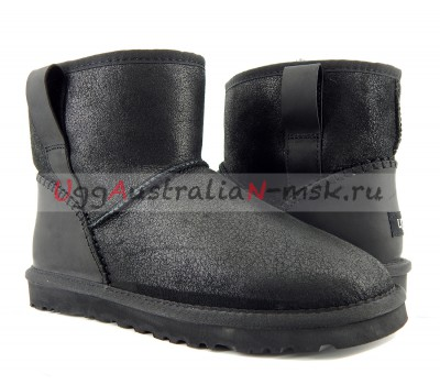 UGG MENS CLASSIC MINI BOMBER STITCH BLACK