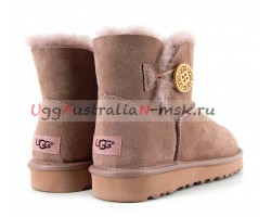 UGG BAILEY BUTTON II METALLIC MILK COFFEE
