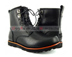 UGG MENS HANNEN LEATHER BLACK