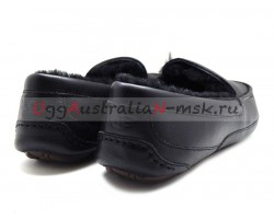 UGG MEN ASCOT LEATHER NEW BLACK