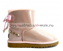 UGG MINI BAILEY BRAID GLITTER ROSE