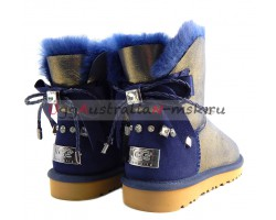 UGG MINI BAILEY BRAID GLITTER BLUE