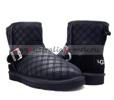 UGG MARILU DOUBLE DIAMOND BLACK