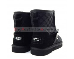 UGG MARILU DOUBLE DIAMOND BLACK