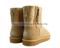 UGG MINI DOUBLE ZIP METALLIC GOLD