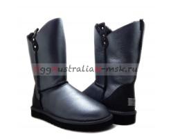 UGG CLASSIC SHORT GLITTER COWBOY BLACK
