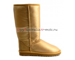 UGG CLASSIC TALL METALLIC GOLD