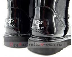 UGG & JIMMY CHOO MINI PATENT II BLACK