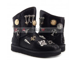 UGG & JIMMY CHOO MULTISIGN BLACK