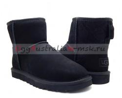 UGG CLASSIC MINI SNAKE II BLACK