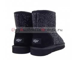 UGG CLASSIC MINI STARDUST BLACK