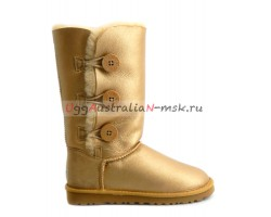 UGG BAILEY BUTTON TRIPLET METALLIC GOLD
