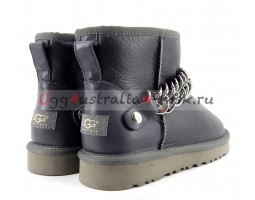 UGG WOMEN MINI ZANOTTI METALLIC GREY