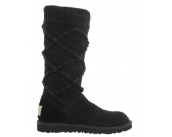 UGG ARGYLE KNIT BLACK