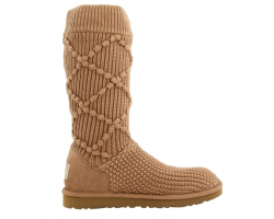 UGG ARGYLE KNIT CHESTNUT