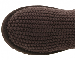 UGG ARGYLE KNIT CHOCOLATE