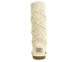 UGG ARGYLE KNIT CREAM