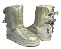 UGG BAILEY BOW BLING SILVER