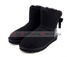 UGG BAILEY BOW PEARLY BLACK