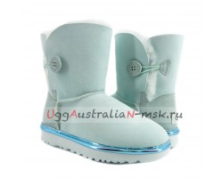 UGG BAILEY BUTTON II METALLIC ICEBERG