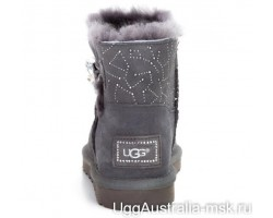 UGG BAILEY BUTTON MINI CONSTELLATION BLING GREY