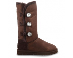 UGG BAILEY BUTTON TRIPLET GLITTER CHOCOLATE