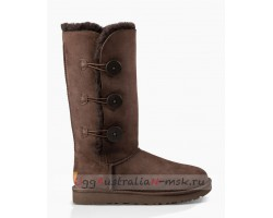 UGG BAILEY BUTTON TRIPLET II CHOCOLATE