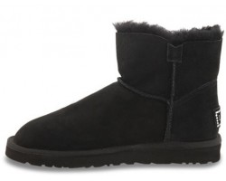 UGG BAILEY BUTTON BLING MINI BLACK