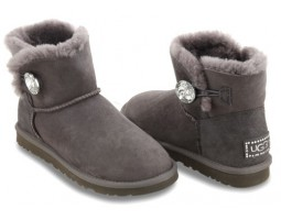 UGG BAILEY BUTTON BLING MINI GREY