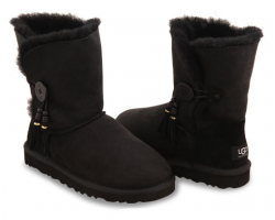 UGG BAILEY BUTTON CHARMS BLACK