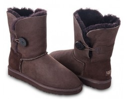 UGG BAILEY BUTTON CHOCOLATE