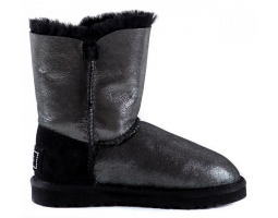 UGG BAILEY BUTTON GLITTER BLACK