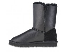 UGG BUTTON METALLIC BLACK