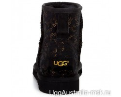 UGG CLASSIC MINI CONIFER BLACK