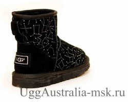UGG CLASSIC MINI CONSTELLATION BLACK
