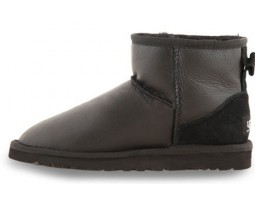 UGG CLASSIC MINI METALLIC BLACK