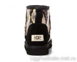 UGG CLASSIC MINI SNAKE BLACK